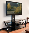 "Tech Craft TMT52 - 3 Way TV Stand up to 52"" TVs with Black Glass top and Shelves. Tech-Craft-TMT52"