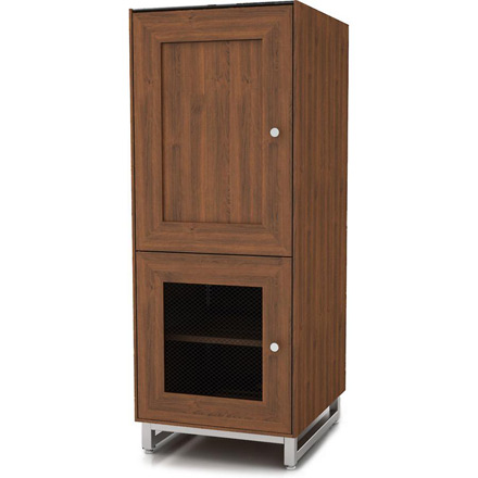 Sanus CADENZA53 Audio Tower in Natural Walnut finish. Sanus-CADENZA53-W