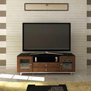 "Sanus CADENZA75 Audio/Video Cabinet TV Stand up to 80"" TVs in Natural Walnut finish. Sanus-CADENZA75-W"