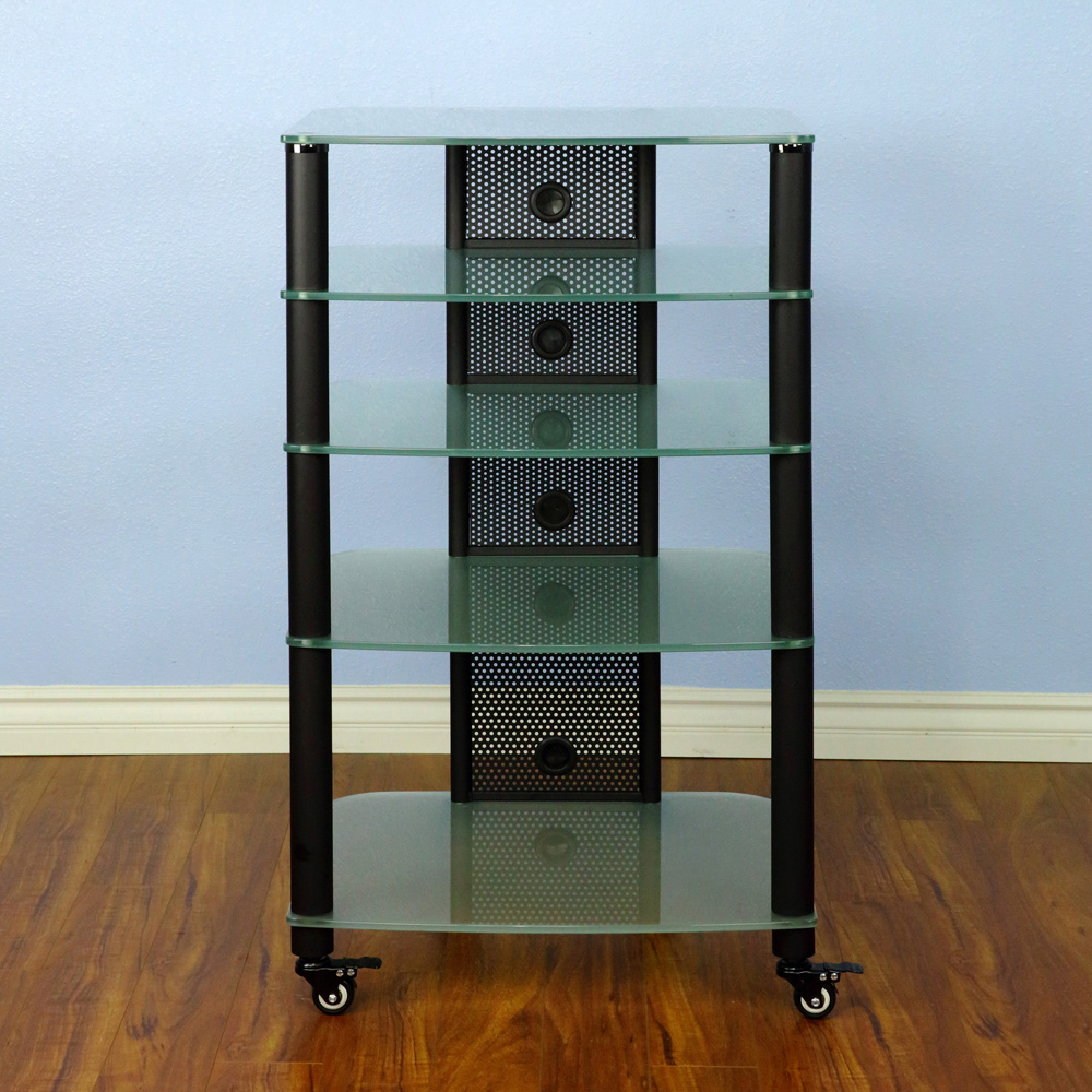 Vti Ngr Series Ngr405bf 5 Shelf Audio Rack With Black