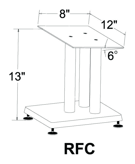 "VTI RFC 13/"" Height Cast Iron Base Center Speaker Stand"