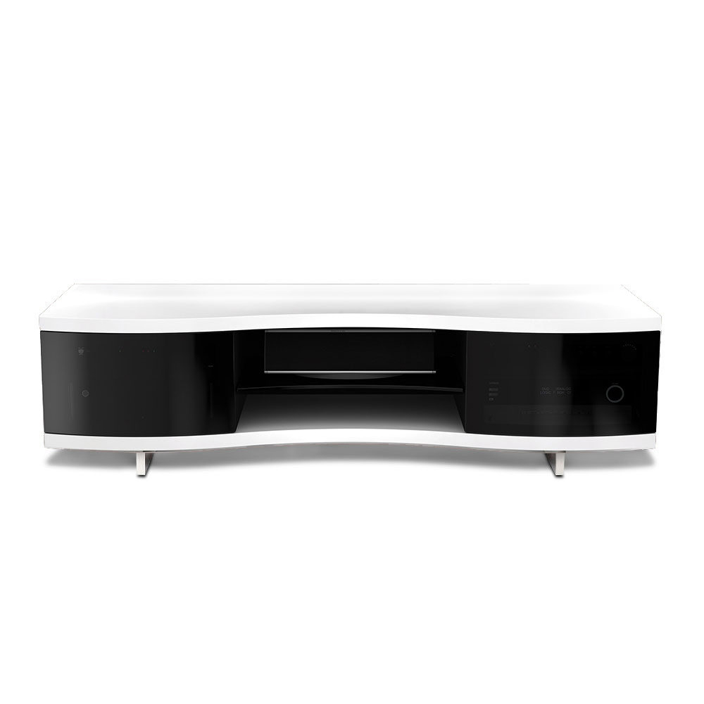 Bdi Ola 8137 Tv Stand Up To 75 Tvs In Smooth Satin White Finish