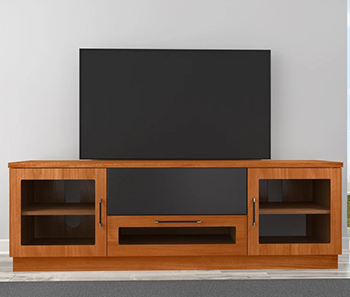 "Furnitech FT72CCLC Contemporary TV Stand Media Console up to 80"" TV'S in Light Cherry Finish."