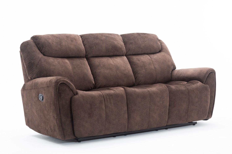 Global United Furniture 5008 Brown Velvet Fabric Sofa.