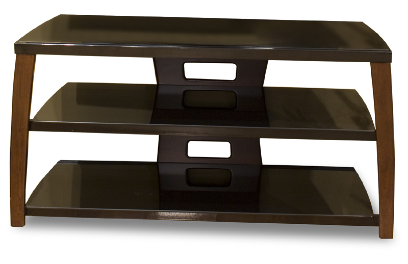 Tech Craft Xii42w 42 Wide Walnut Veneer Flat Panel Stand With